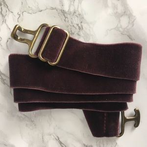 Purple Velvet Stretch Belt